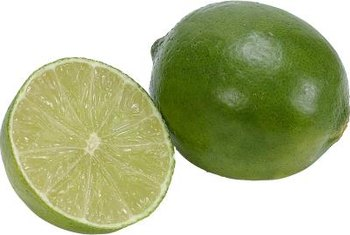 Mexican limes have flavorful, pale green flesh.