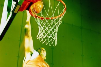 Basketball backboards can be attached through various methods.