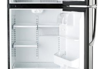 The volume of a refrigerator is its interior space.