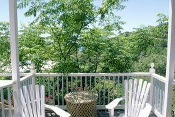 Porch shade screens protect outdoor furniture from prolonged exposure to direct sunlight.