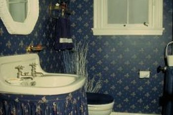 Get the look of an authentic vintage bathroom.