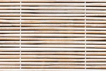To keep blinds clean, dust them when you dust the rest of the house.