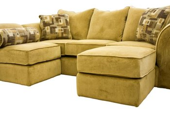 Elegant Microfiber Couches Look As If They Are Upholstered With Suede.