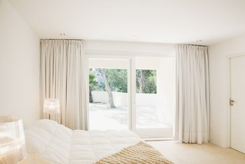 How To Hang Curtains Over Sliding Gl Doors