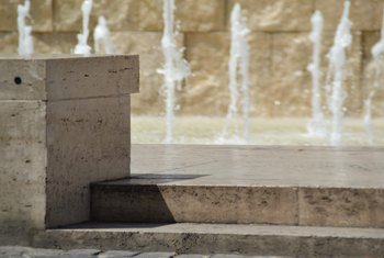 How to Paint Outside Cement Fountains