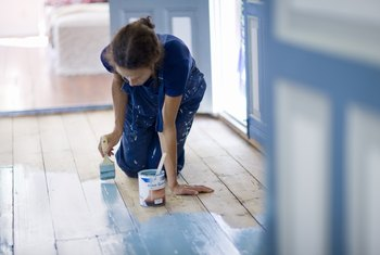 How to Paint Vinyl Floors So They Stay Painted