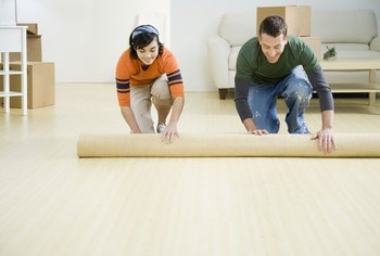 How to Lay Carpet Over Tile