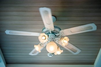 How to Install a Light Fixture That Is Wired for a Ceiling Fan