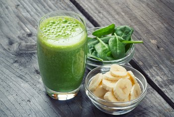 Raw Nutrients of Spinach in a Blended Smoothie