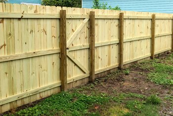How to Fill in a Gap Under Fencing