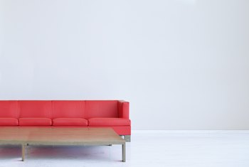 How to Furnish a Living Room With a Red Sofa