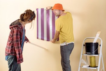 How to Texture Over Wallpapered Walls
