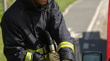 A firefighter's hat is a distinctive part of the uniform