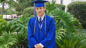 Honors cords are worn around the neck during graduation.