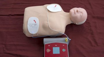 An AED is used in CPR training