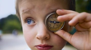 A compass may seem complicated, but you can teach cardinal directions with various games.