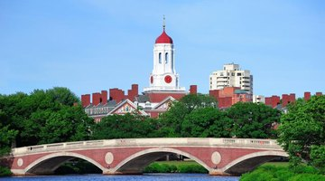 Looking at the Harvard University Campus from across a river.