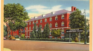 Historical postcard depicting Daughters of the American Revolution Hall located on the main campus