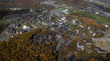 The Binghamton campus and surroundings