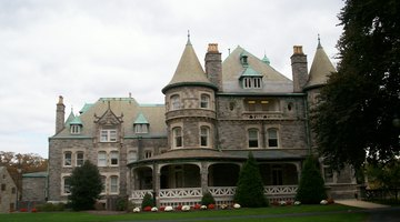 Side view of the Main Building at Rosemont College, listed on the National Register of Historic Places as Joseph Sinnott Mansion.