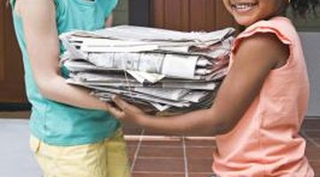 Teaching children to recycle paper at school can reap economic, educational and environmental rewards.