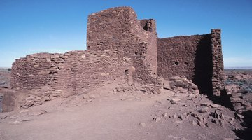 The Wupatki Pueblo had close to 100 rooms.