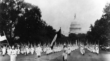 The KKK became more visible during the 1920s.