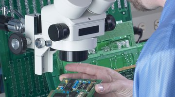 Electronic engineers work in labs, offices and manufacturing environments, depending on their specialty.