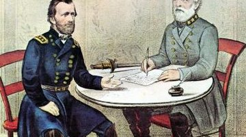 Gen. Ulysses S. Grant, on the left, had fortune on his side during the Battle of Shiloh.