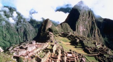 The ruins of Machu Picchu, an Inca archaeological site in the Andes.