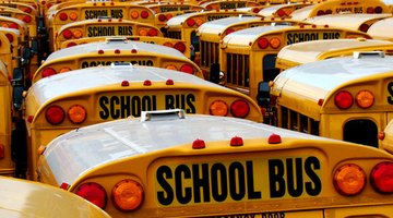 Shorter school week means fewer round trips per week—per bus.