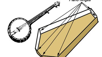 Attach piano or strap hinges on the outside of the box where the sides meet at the corners