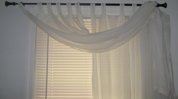 Use your existing curtain as a valance to decorate in a pinch.