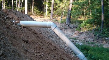 A pond overflow pipe