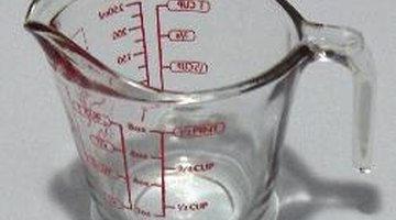 Combine the lye and water