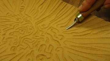 Linoleum is easily carved, but not very durable.