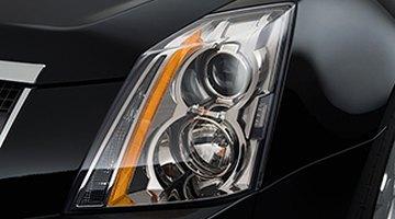 Rear lamp on silver car