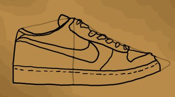 An almost complete drawing of the shoe.