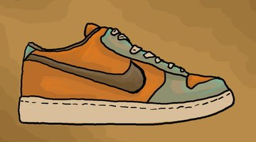 Colour the Nike shoe to complete the drawing.