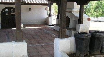 A sturdy patio cover design