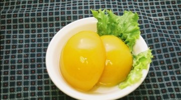 Soft textured foods such as canned peaches can be eaten.