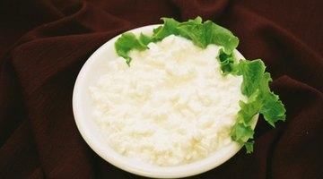 Cottage cheese counts as one serving of a dairy product.