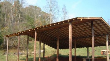 A pole barn is among the easiest DIY hay barns to complete.