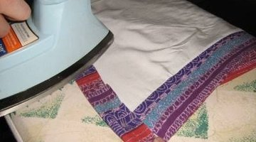 Double fold being ironed