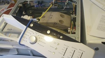 Use bungie cord to tie back control panel.