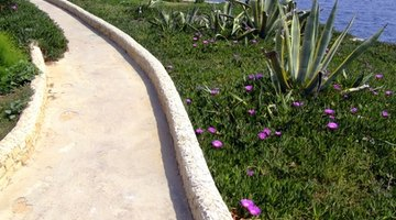 Rock pathways add beauty and definition to your riverfront property.