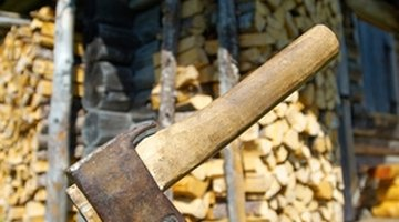Use an axe or log splitter to cut logs efficiently.