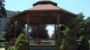 This is a two-tier gazebo.