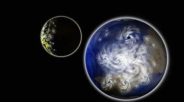 Earth's rotation causes swirls.