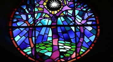 Stained glass is a colorful, decorative opaque glass.